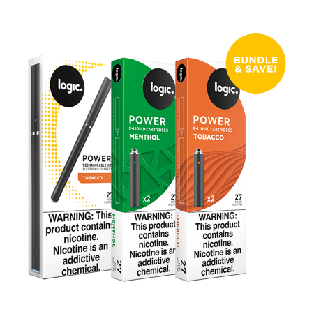 Logic Power Rechargeable Kit with Cartridges Bundle
