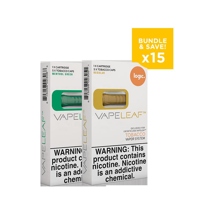 Vapeleaf Refill Bundle- 15 Capsule Packs